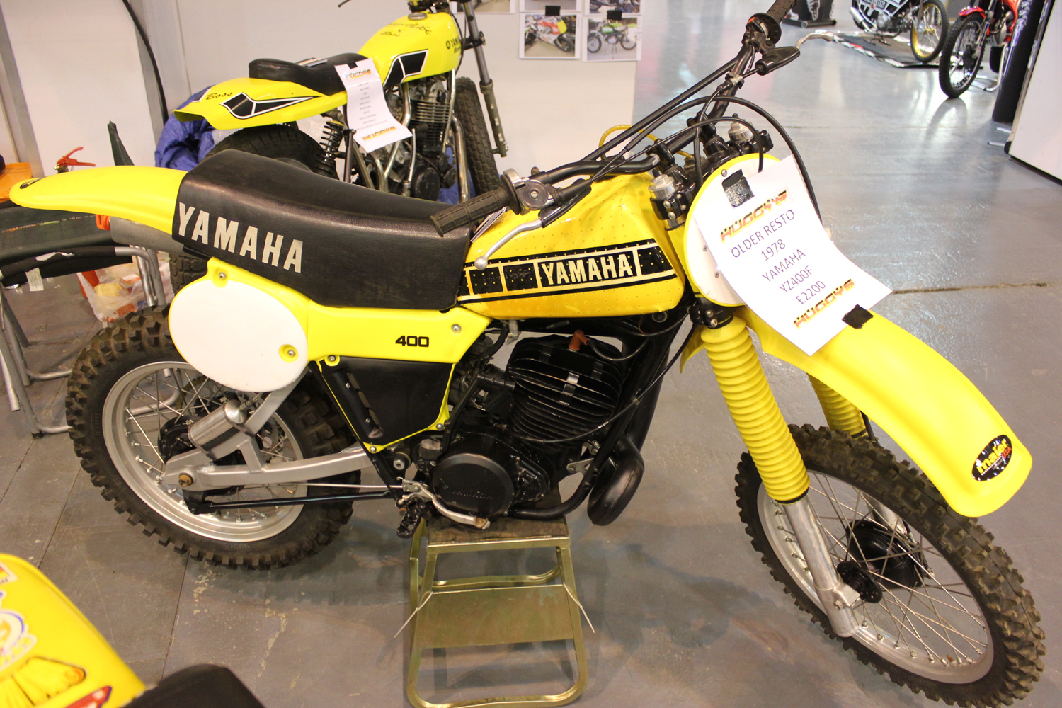 classicdirtbikerider.com-photo by Mr J-2015 Telford classic dirt bike show-1978 YAMAHA YZ400F