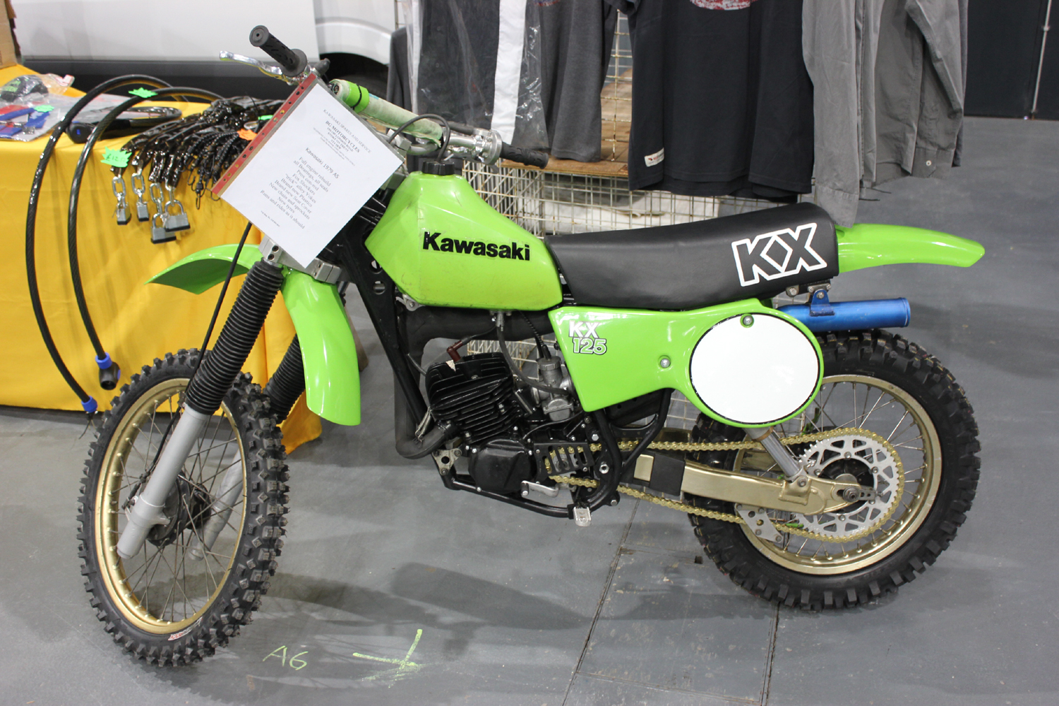 classicdirtbikerider.com-photo by Mr J-2015 Telford classic dirt bike show-1979 KAWASAKI KX125 A5