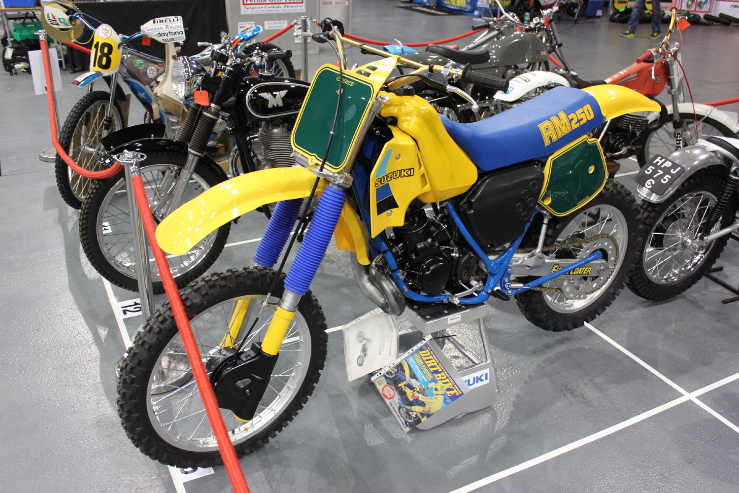 classicdirtbikerider.com-photo by Mr J-2015 Telford classic dirt bike show-1980s SUZUKI RM250 EVO BIKE
