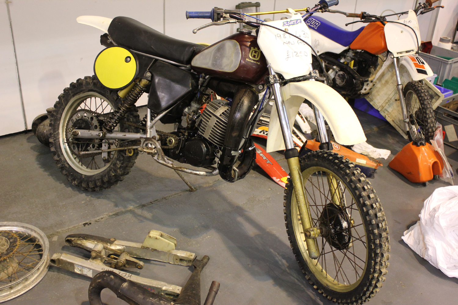 classicdirtbikerider.com-photo by Mr J-2015 Telford classic dirt bike show-1981 HUSQVARNA CR430 FOR SALE