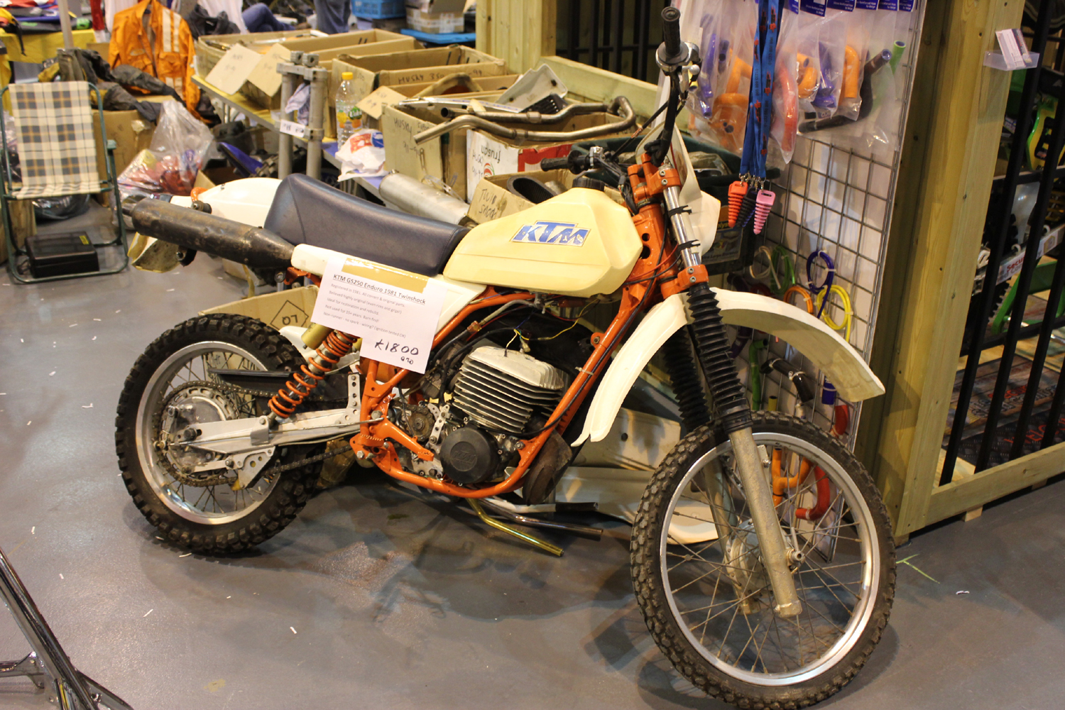 classicdirtbikerider.com-photo by Mr J-2015 Telford classic dirt bike show-1981 KTM GS250 ENDURO FOR SALE £1800