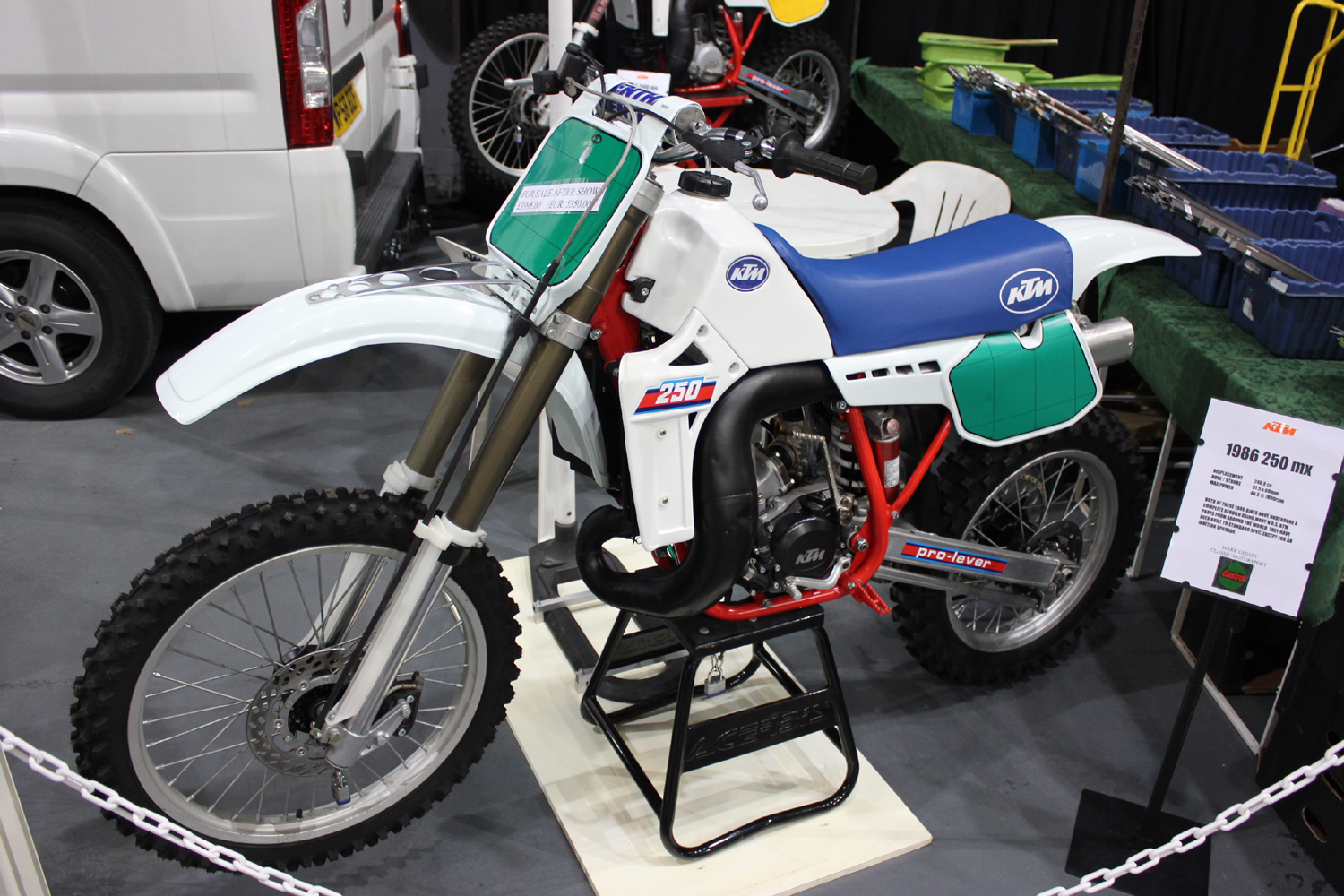 classicdirtbikerider.com-photo by Mr J-2015 Telford classic dirt bike show-1986 KTM250 MOTOCROSS BIKE