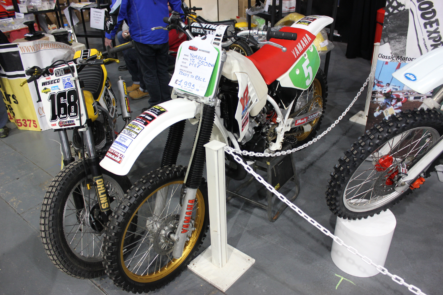 classicdirtbikerider.com-photo by Mr J-2015 Telford classic dirt bike show-1987 YAMAHA YZ250 EVO BIKE FOR SALE £1900