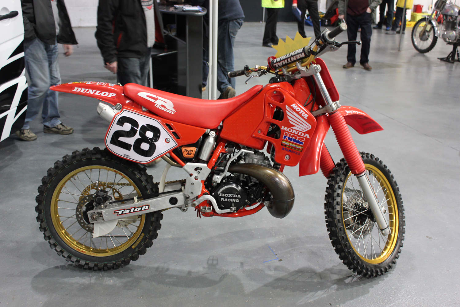 classicdirtbikerider.com-photo by Mr J-2015 Telford classic dirt bike show-1989 HONDA CR250 EVO BIKE FOR SALE £3250-