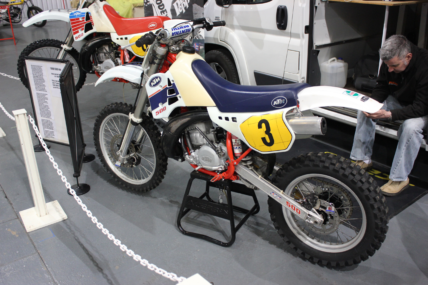 classicdirtbikerider.com-photo by Mr J-2015 Telford classic dirt bike show-1990s KTM 500 EVO MOTOCROSS BIKE