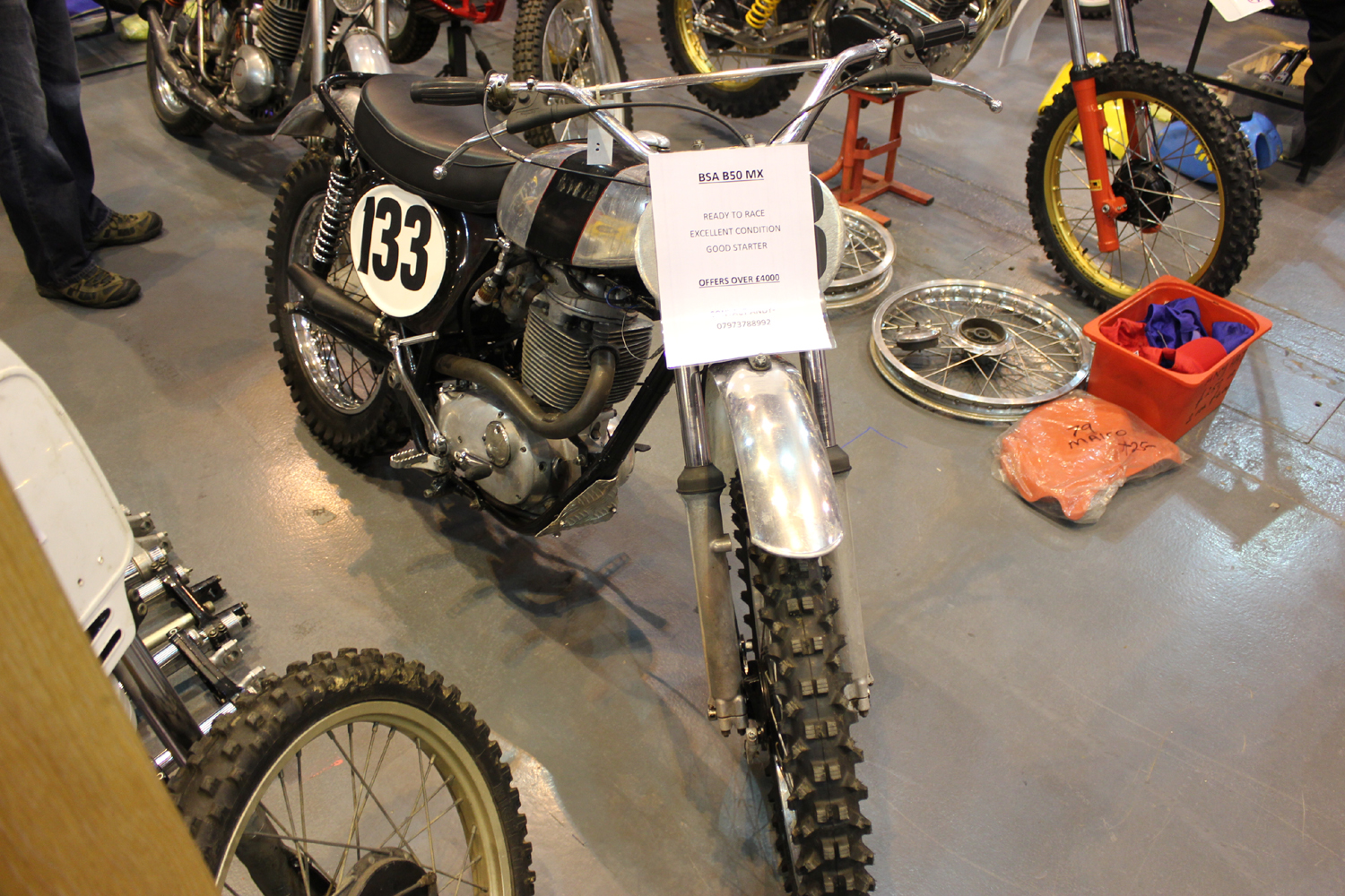 classicdirtbikerider.com-photo by Mr J-2015 Telford classic dirt bike show-BSA B50 SCRAMBLER FOR SALE £4000