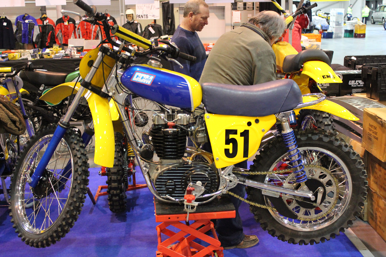 classicdirtbikerider.com-photo by Mr J-2015 Telford classic dirt bike show-CCM SCRAMBLER-2