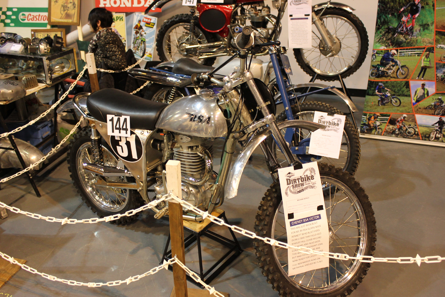 classicdirtbikerider.com-photo by Mr J-2015 Telford classic dirt bike show-CHENEY BSA VICTOR SCRAMBLER
