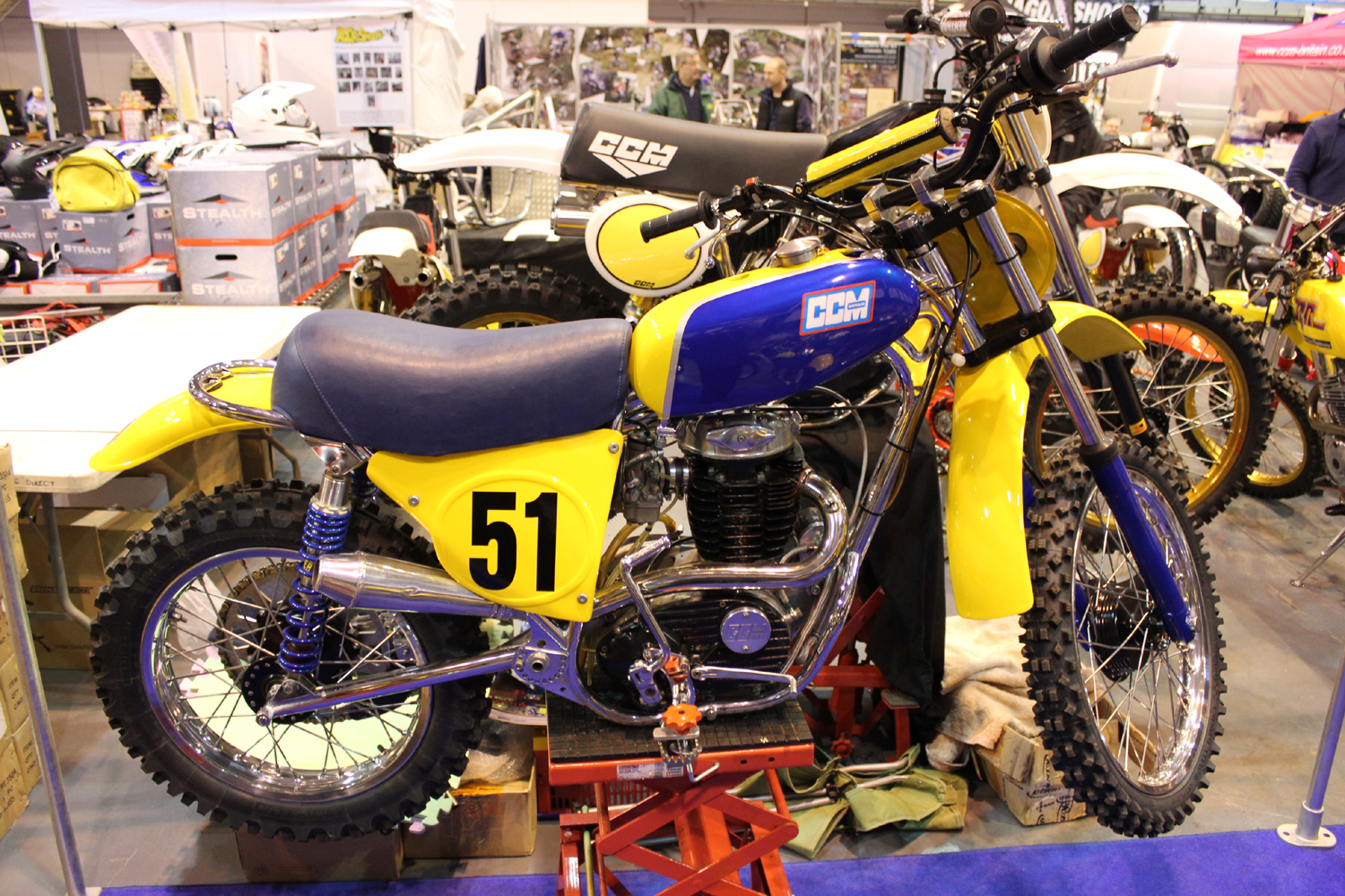 classicdirtbikerider.com-photo by Mr J-2015 Telford classic dirt bike show-CLASSIC CCM MOTOCROSS BIKE