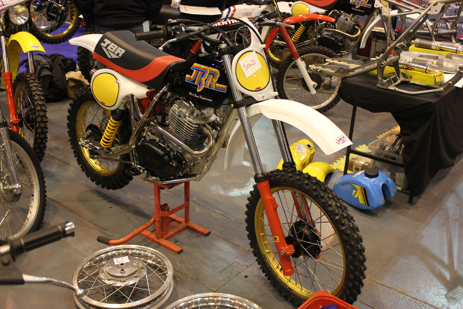 classicdirtbikerider.com-photo by Mr J-2015 Telford classic dirt bike show-CLASSIC FOURSTROKE HONDA JBR TWINSHOCK MOTOCROSS BIKE