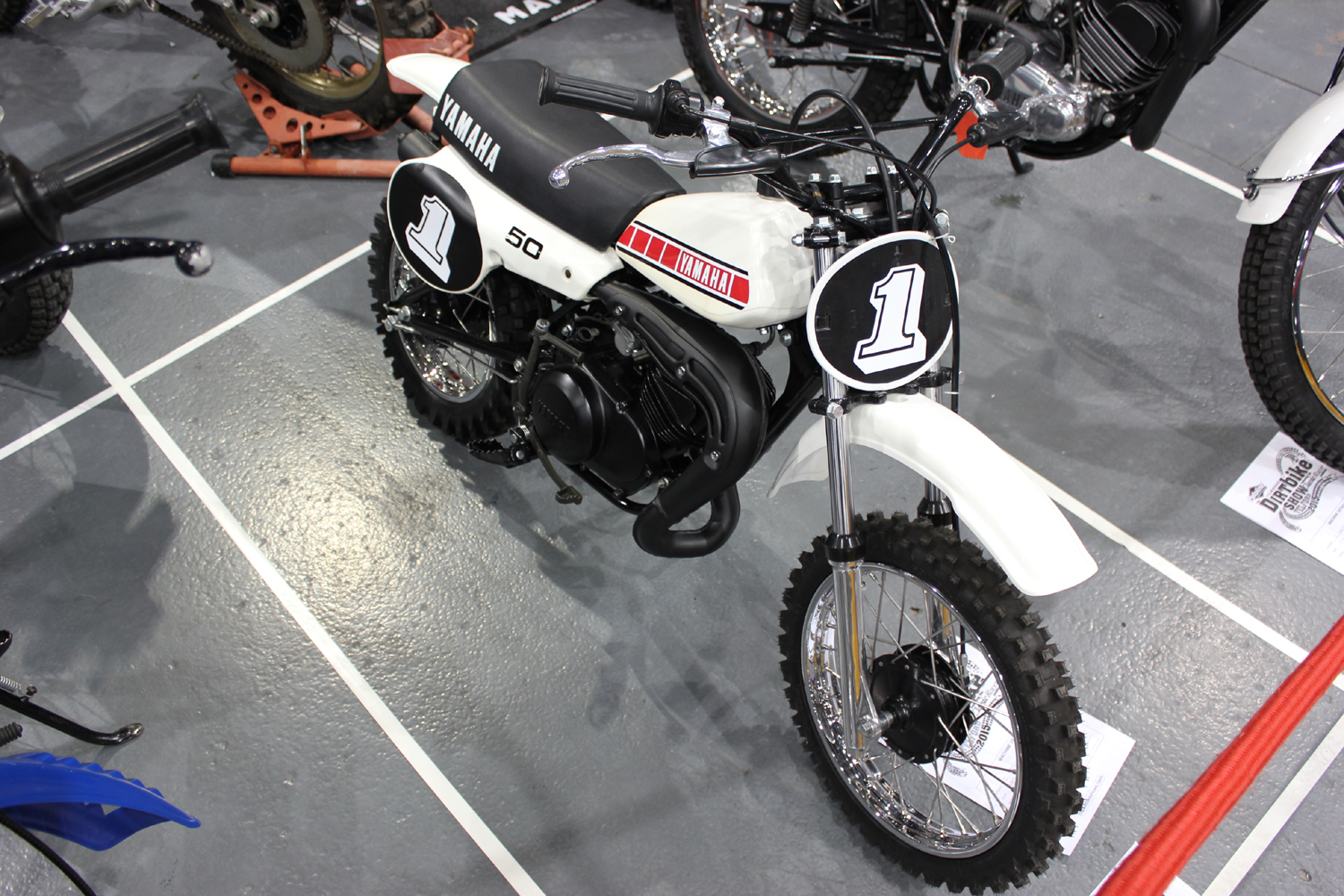 classicdirtbikerider.com-photo by Mr J-2015 Telford classic dirt bike show-CLASSIC YAMAHA YZ50