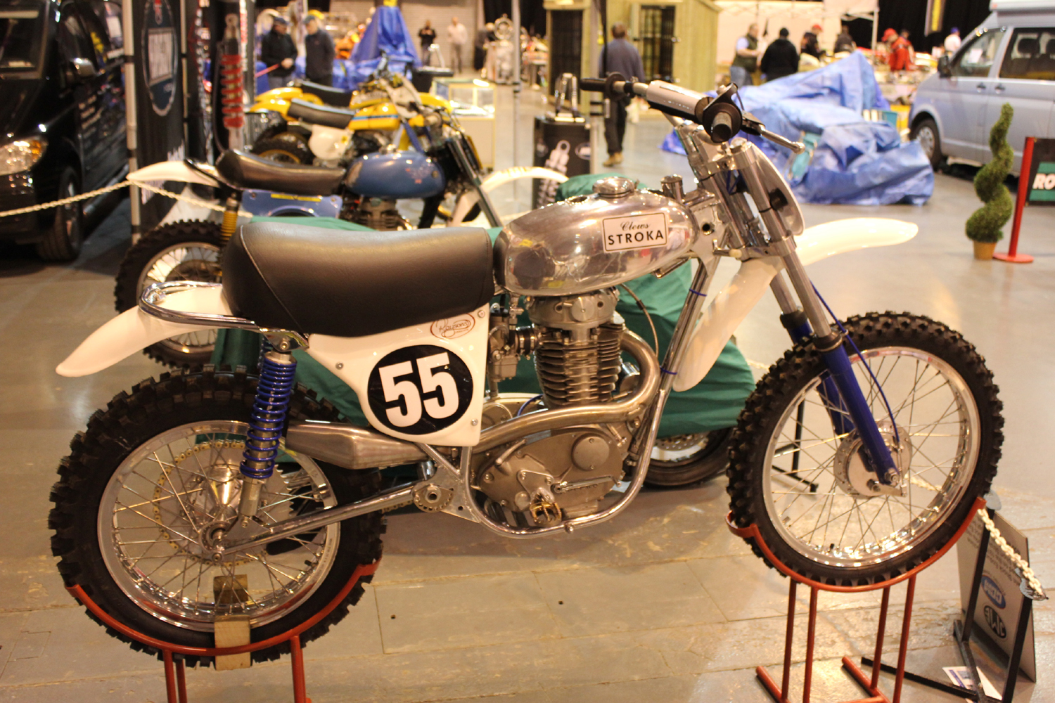 classicdirtbikerider.com-photo by Mr J-2015 Telford classic dirt bike show-CLEWS STROKA CLASSIC SCRAMBLER