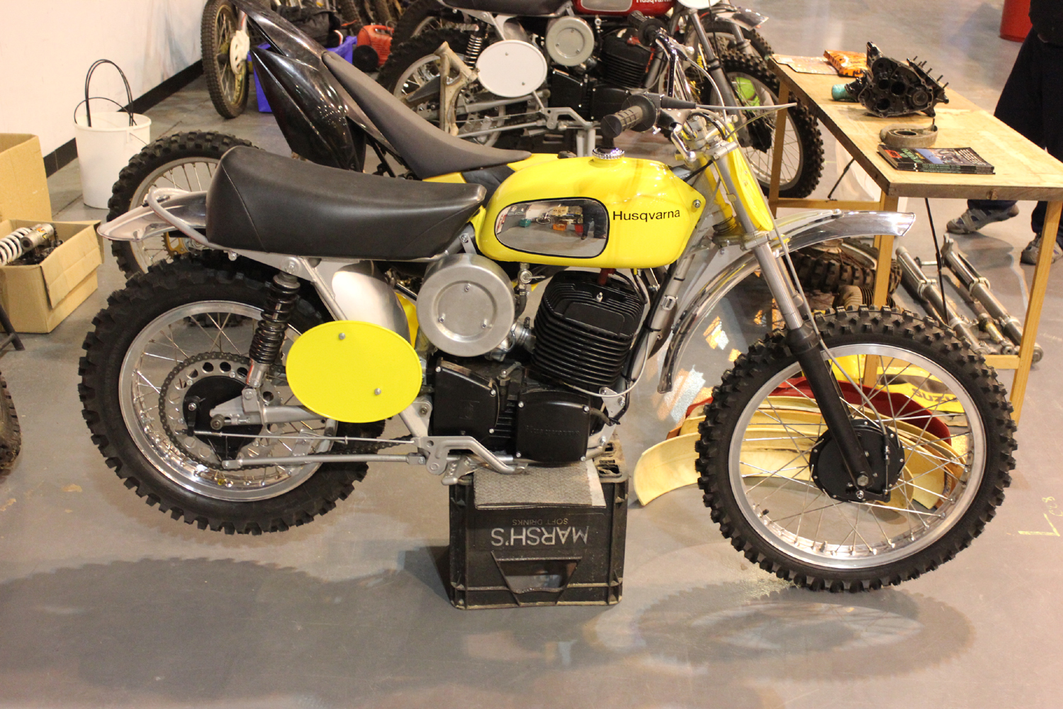 classicdirtbikerider.com-photo by Mr J-2015 Telford classic dirt bike show-EARLY HUSQVARNA MX BIKE