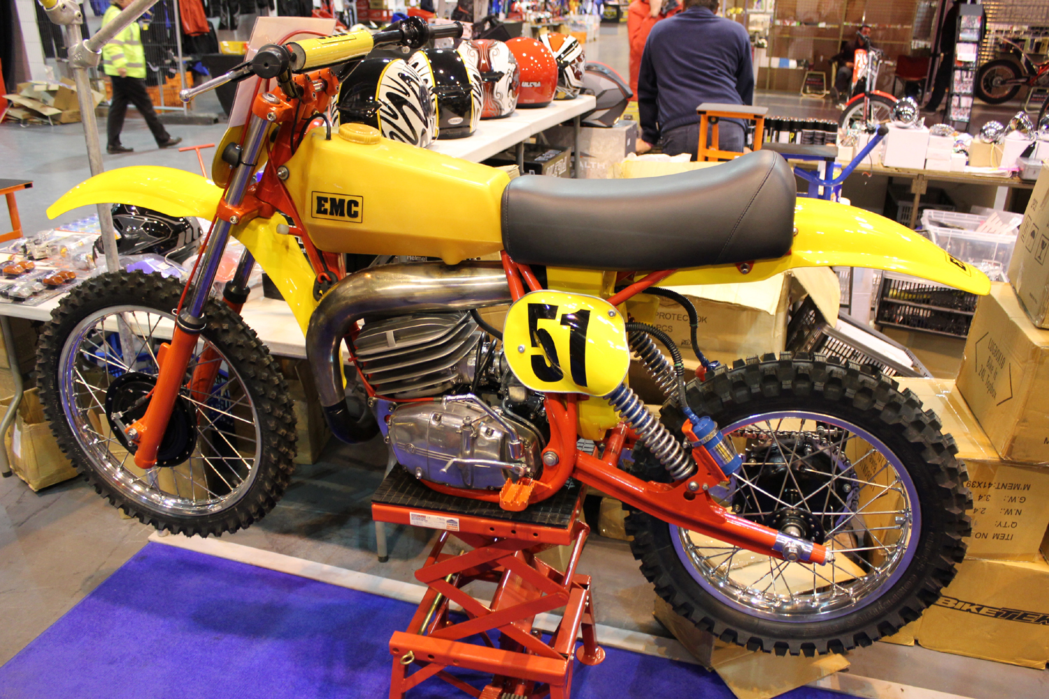 classicdirtbikerider.com-photo by Mr J-2015 Telford classic dirt bike show-EMC-CZ TWINSHOCK MOTOCROSS BIKE