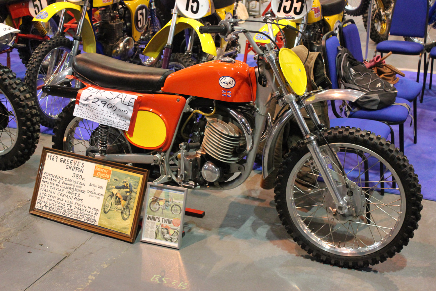 classicdirtbikerider.com-photo by Mr J-2015 Telford classic dirt bike show-GREEVES 380 GRIFFON SCRAMBLER