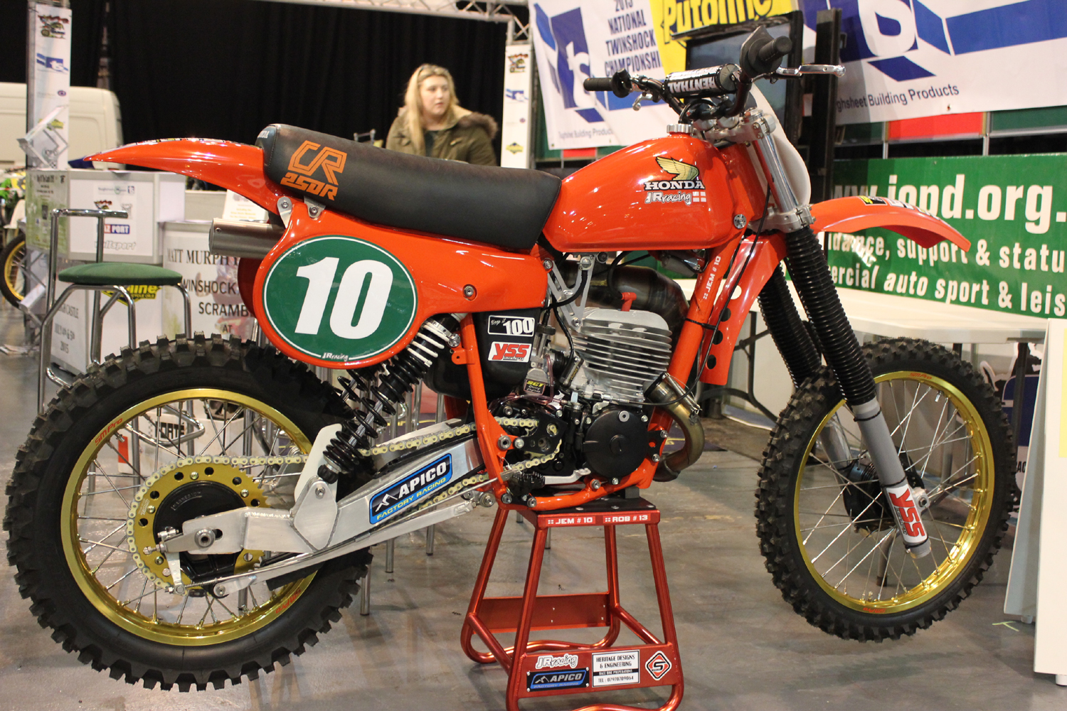 classicdirtbikerider.com-photo by Mr J-2015 Telford classic dirt bike show-HONDA CR250 RED ROCKET