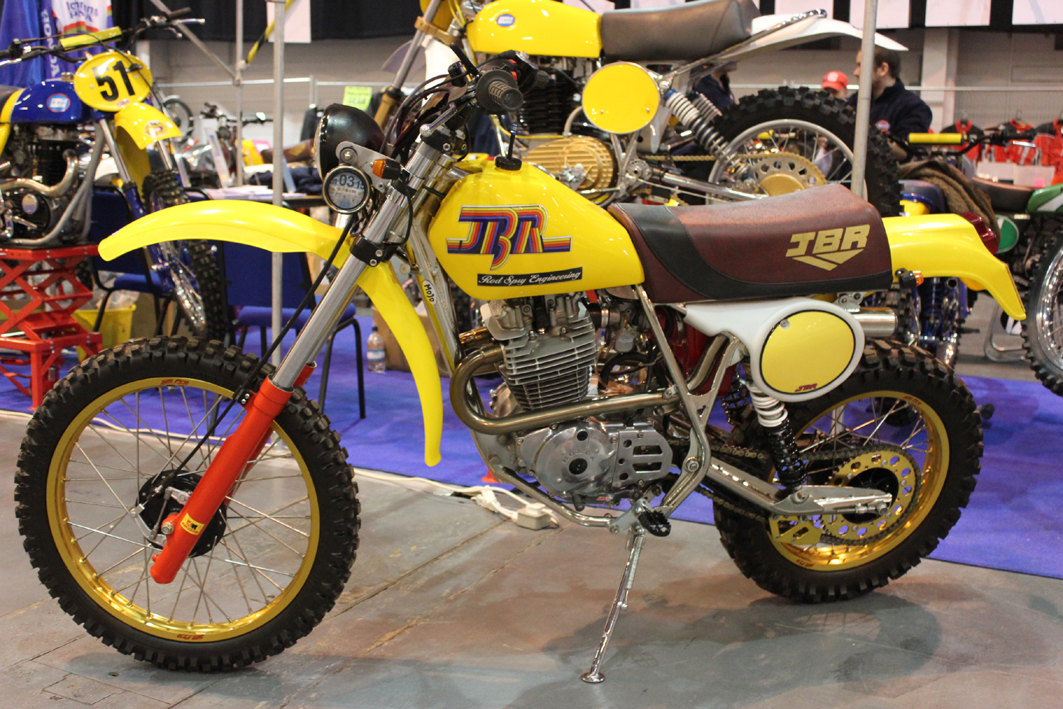 classicdirtbikerider.com-photo by Mr J-2015 Telford classic dirt bike show-JBR FOUR STROKE HONDA TWINSHOCK ENDURO