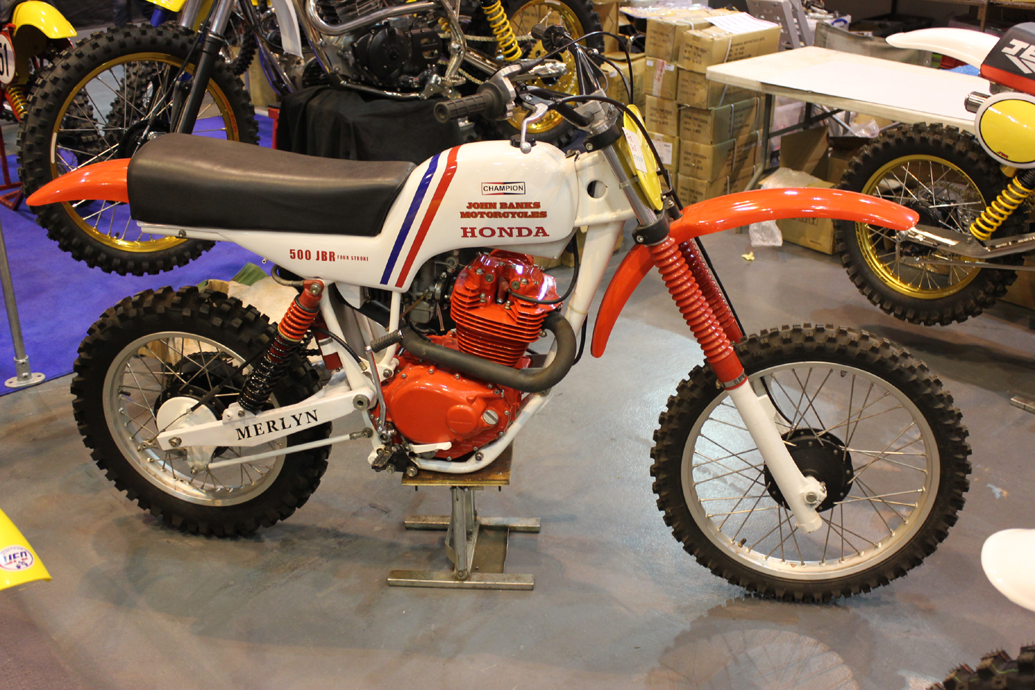 classicdirtbikerider.com-photo by Mr J-2015 Telford classic dirt bike show-JOHN BANKS TWINSHOCK HONDA MOTOCROSS BIKE