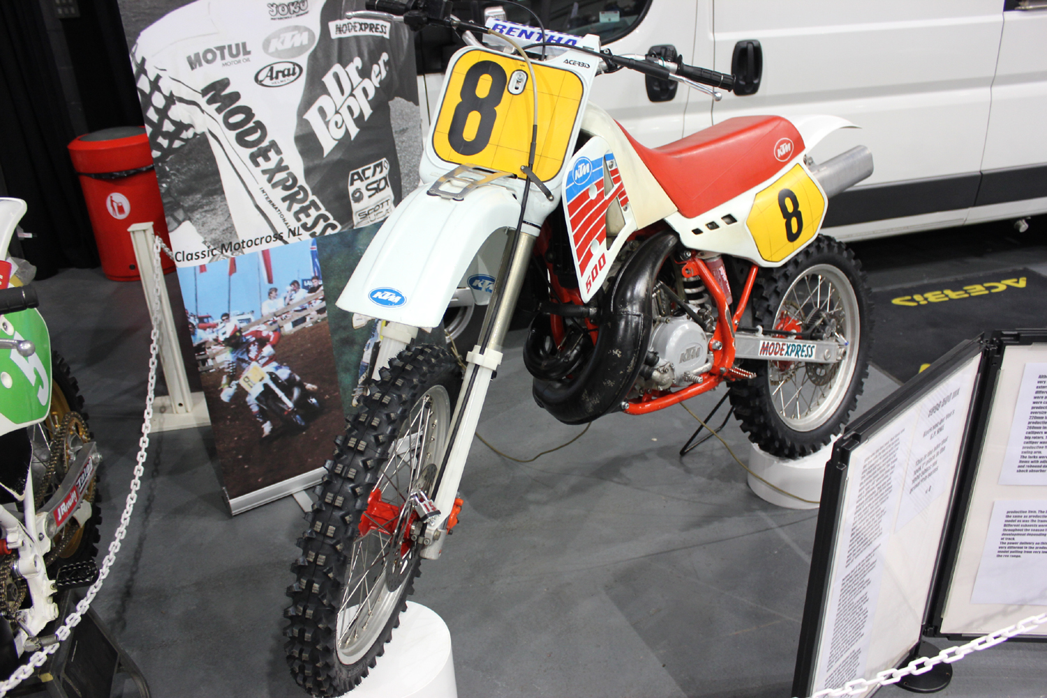 classicdirtbikerider.com-photo by Mr J-2015 Telford classic dirt bike show-KTM 500 EVO BIKE