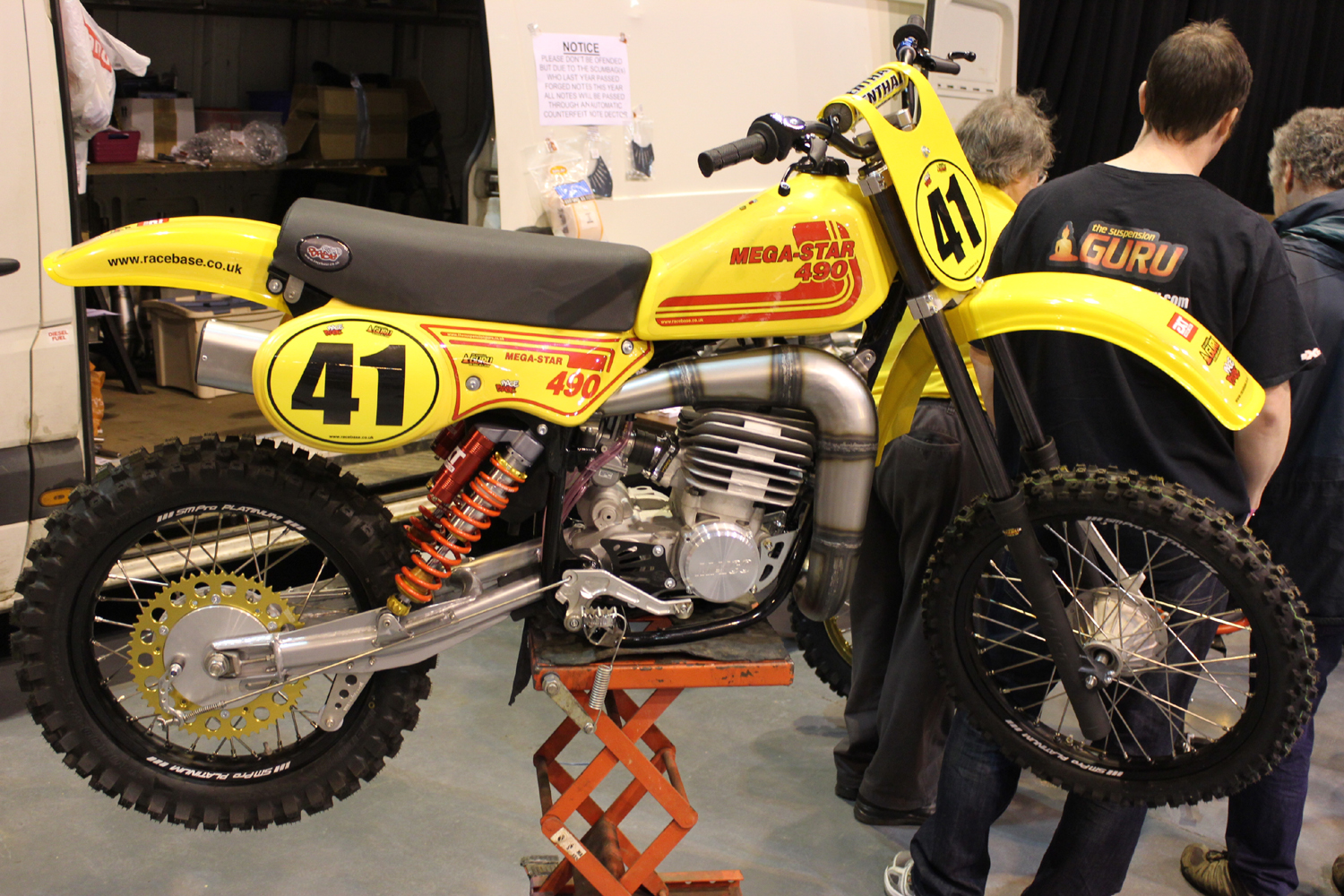 classicdirtbikerider.com-photo by Mr J-2015 Telford classic dirt bike show-MAICO 490 MEGA-STAR TWINSHOCK MX