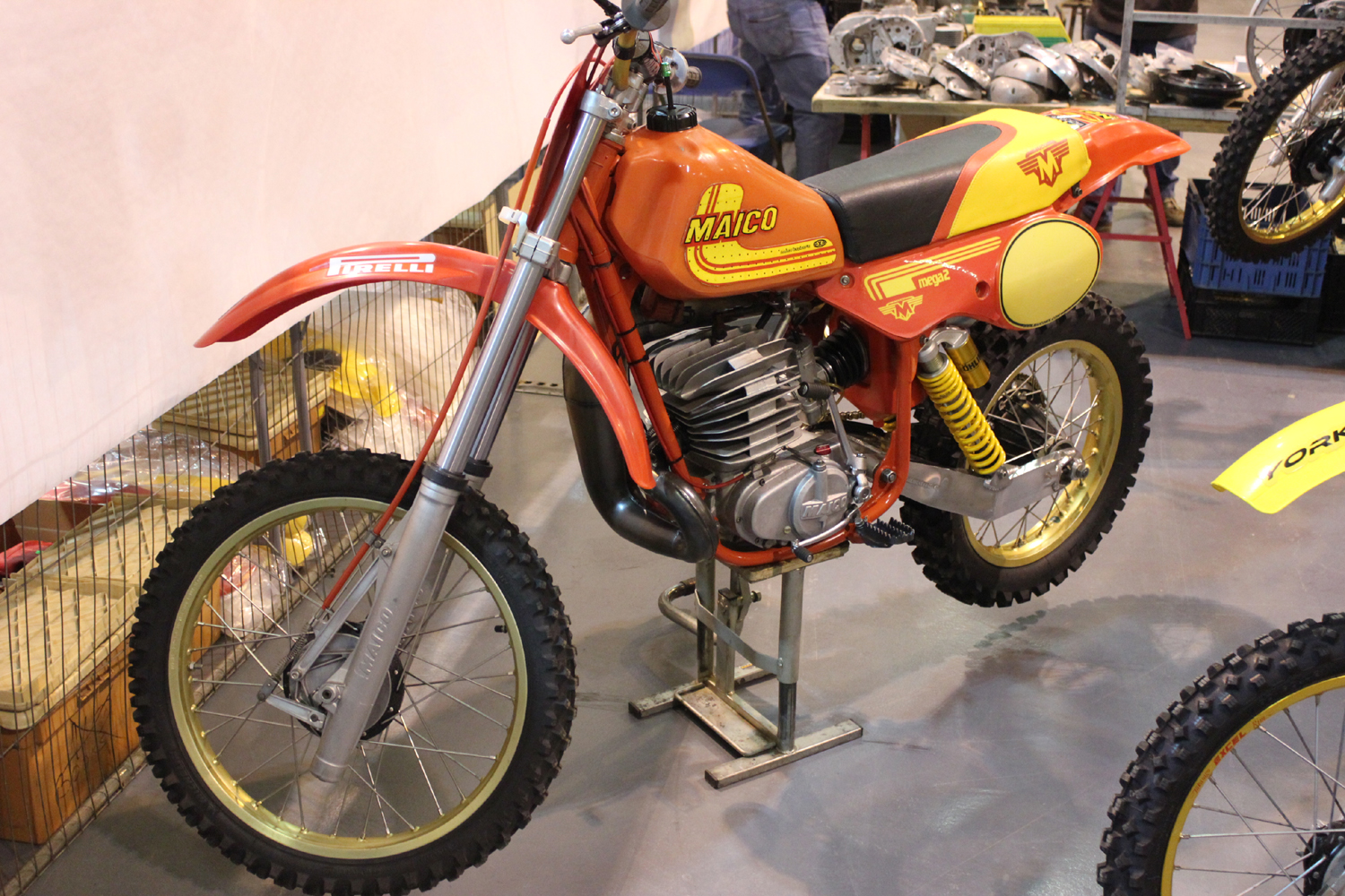 classicdirtbikerider.com-photo by Mr J-2015 Telford classic dirt bike show-MAICO MEGA 2
