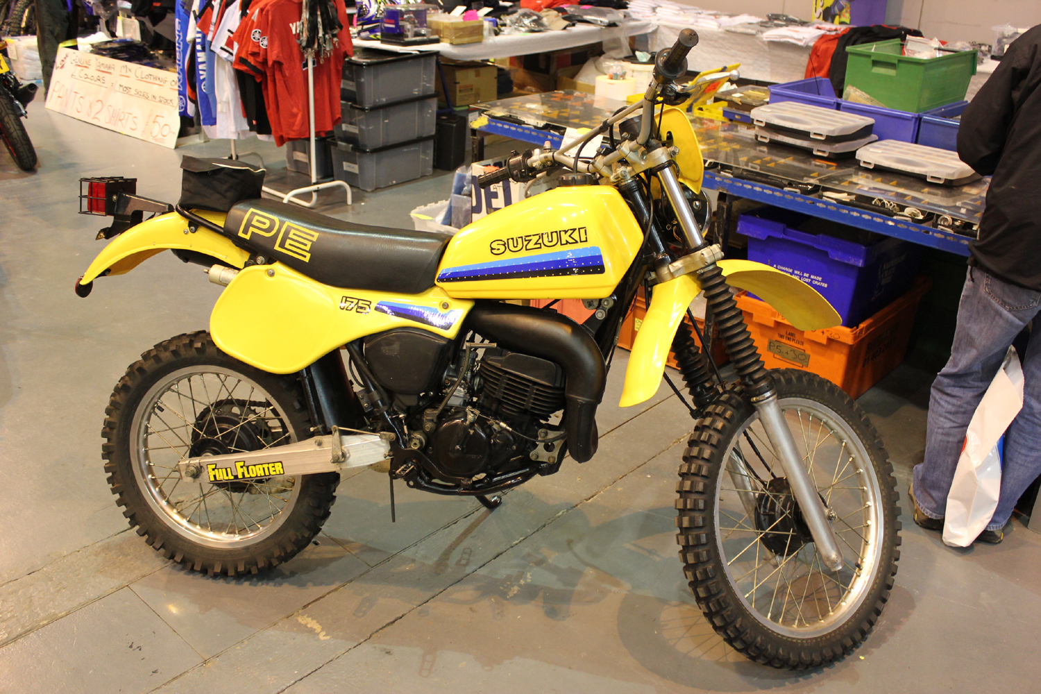 classicdirtbikerider.com-photo by Mr J-2015 Telford classic dirt bike show-SUZUKI PE175 FULL-FLOATER ENDURO