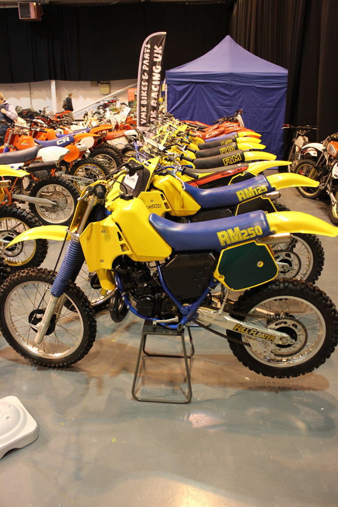 classicdirtbikerider.com-photo by Mr J-2015 Telford classic dirt bike show-SUZUKI RM LINE UP