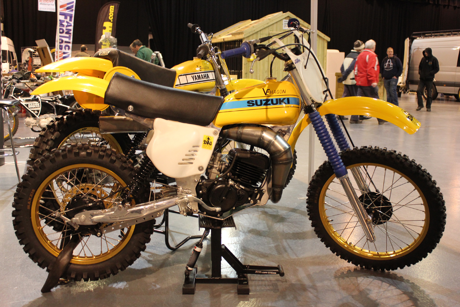 classicdirtbikerider.com-photo by Mr J-2015 Telford classic dirt bike show-VE HAGON FRAMED SUZUKI RM TWINSHOCK