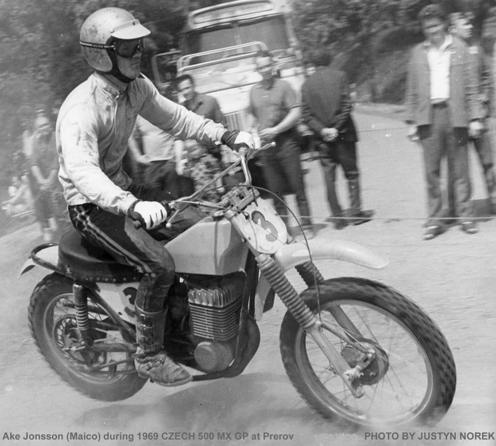 Ake Jonsson (Maico) during 1969 CZECH 500 MX GP at Prerov-classicdirtbikerider.com