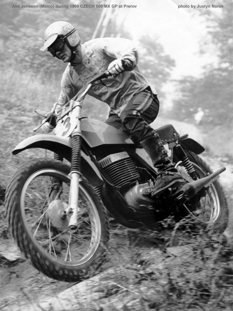 Ake Jonsson (Maico) during 1969 CZECH 500 MX GP at Prerov...photo by Justyn Norek-classicdirtbikerider.com