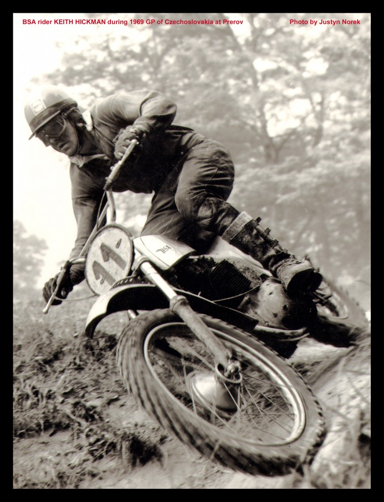 BSA rider KEITH HICKMAN during 1969 GP of Czechoslovakia at Prerov..Photo by Justyn Norek-classicdirtbikerider.com