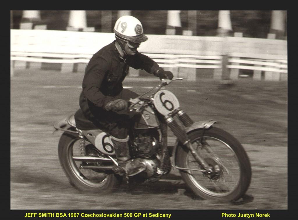JEFF SMITH BSA 1967 Czechoslovakian 500 GP at Sedlcany..Photo Justyn Norek -classicdirtbikerider.com