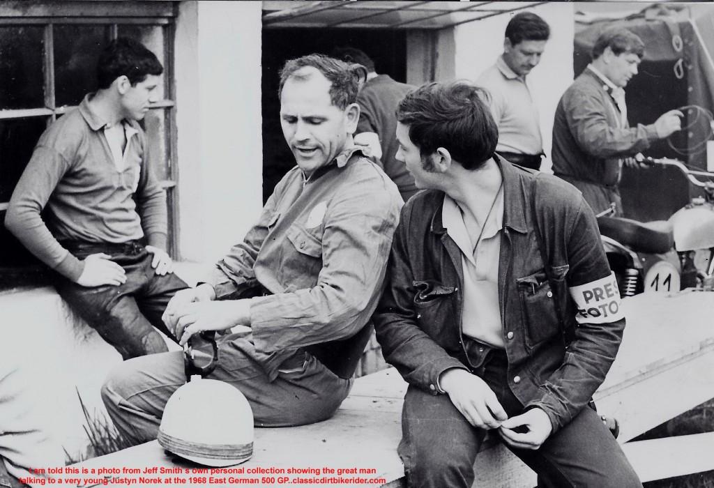 Jeff Smith BSA & Justyn Norek photographer at 1968 East German 500 mx-classicdirtbikerider