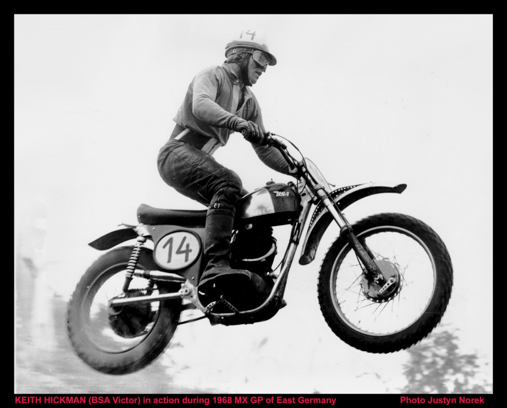 KEITH HICKMAN (BSA Victor) .....in action during 1968 MX GP of East Germany-classicdirtbikerider.com-Photo Justyn Norek
