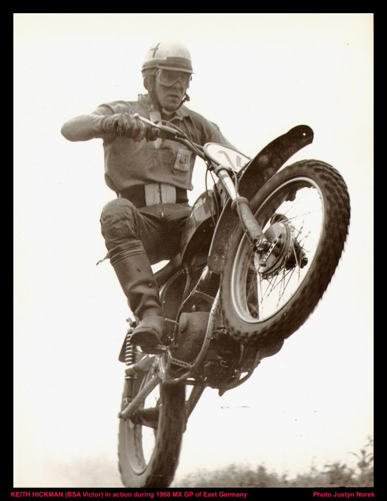KEITH HICKMAN (BSA Victor) in action during 1968 MX GP of East Germany-classicdirtbikerider.com-Photo Justyn Norek