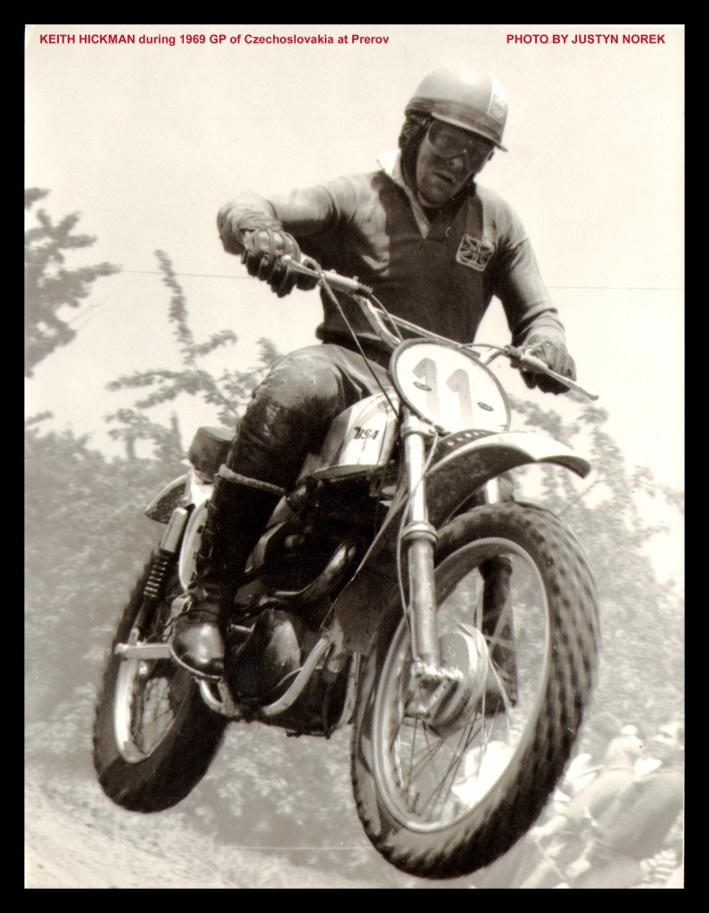 KEITH HICKMAN BSA during 1969 GP of Czechoslovakia at Prerov-classicdirtbikerider.com-PHOTO BY JUSTYN NOREK