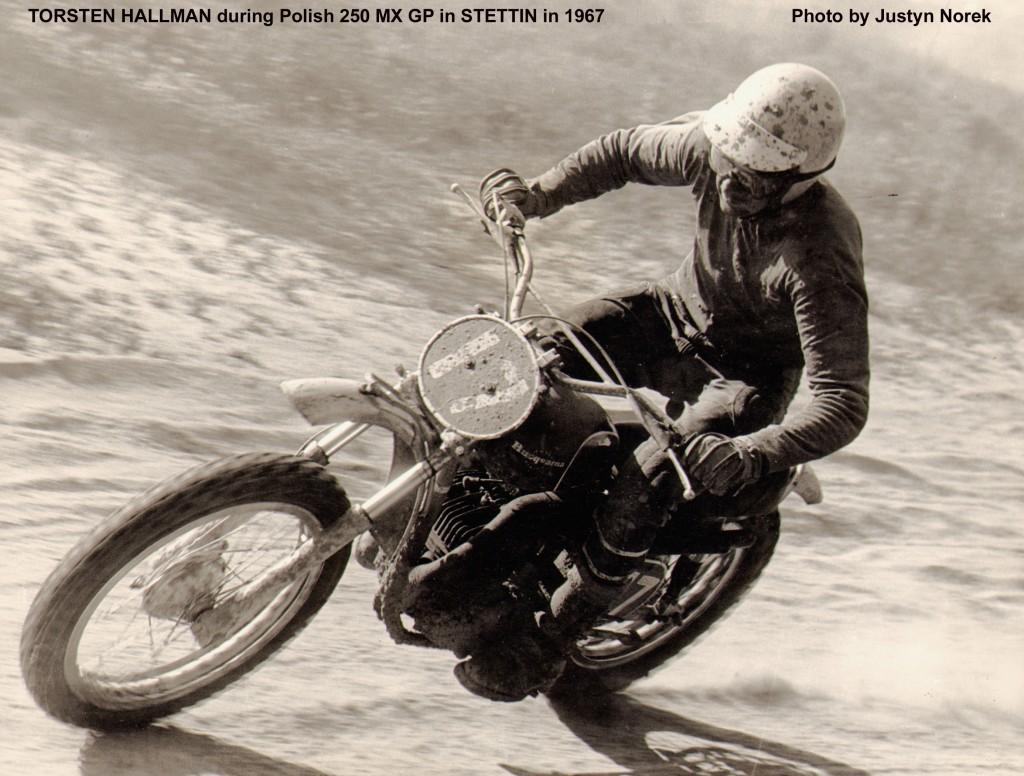 TORSTEN HALLMAN during Polish 250 MX GP in STETTIN in 1967-classicdirtbikerider.com-Photo by Justyn Norek