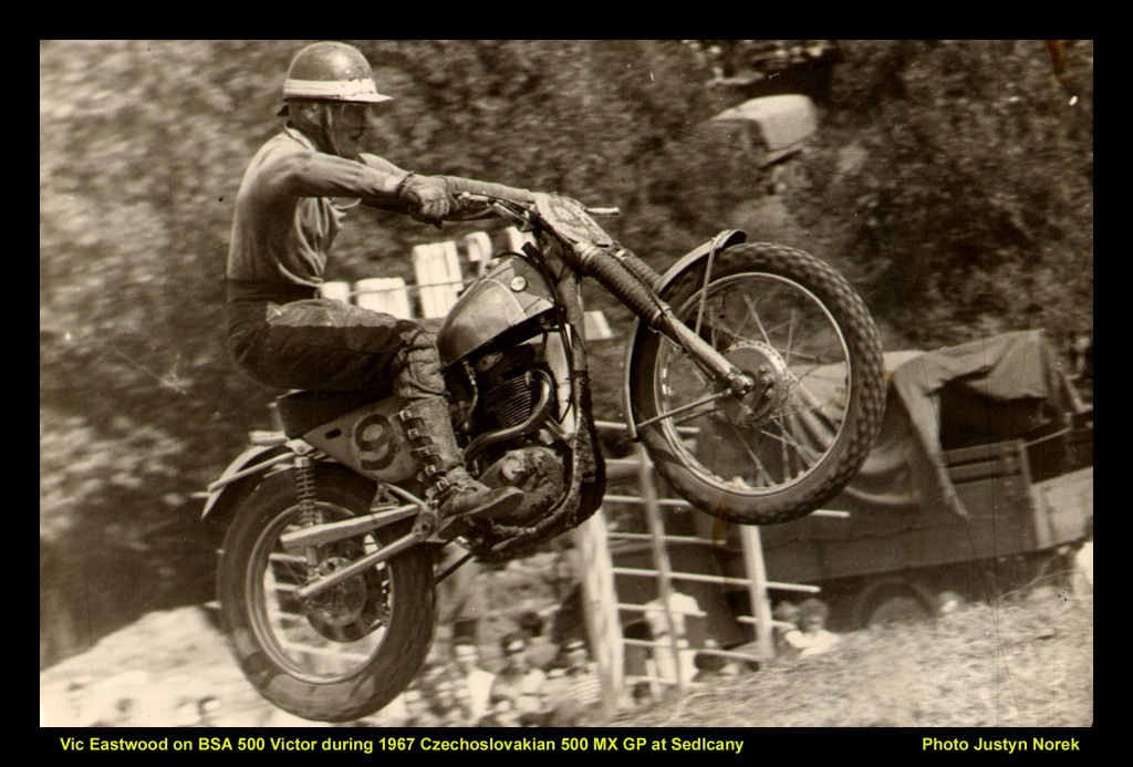 Vic Eastwood on BSA 500 Victor during 1967 Czechoslovakian 500 MX GP at Sedlcany--classicdirtbikerider.com-Photo Justyn Norek