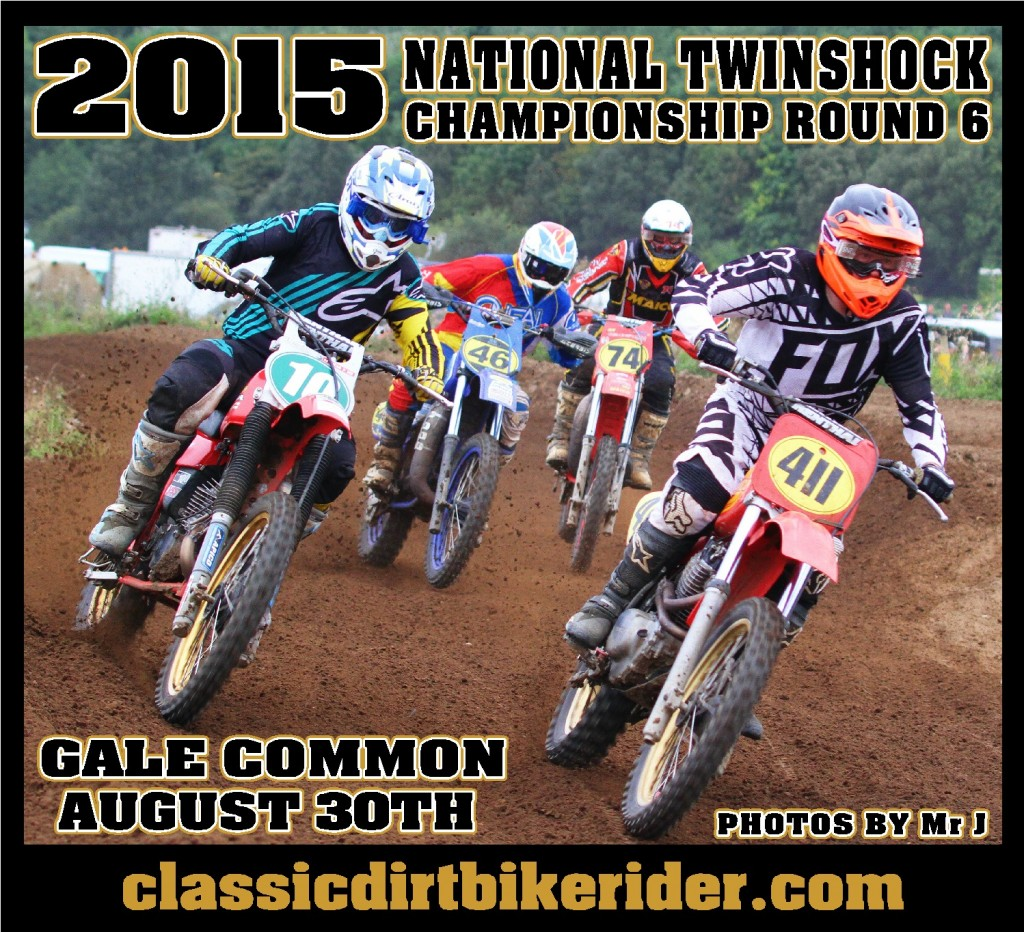 National Twinshock Championship 2015 Photos Round 6 Gale Common classicdirtbikerider.com Evo Vintage Motocross A