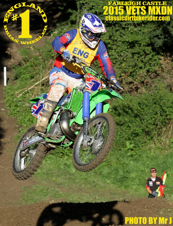 Vets MXDN 2015 PHOTOS & REPORT classicdirtbikerider.com Brian Wheeler Team England vintage Evo motocross racing