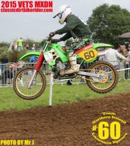 Vets MXDN 2015 PHOTOS & REPORT classicdirtbikerider.com Laurence Spence Kawasaki KX500 Evo motocross
