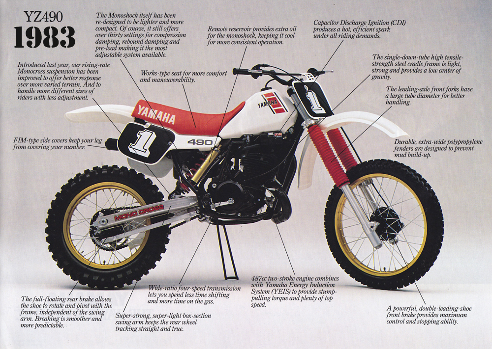 Yamaha Yz490 Production History Classicdirtbikerider. 1983 Yamaha Yz490. Wiring. Kx 500 2 Stroke Stator Wiring Diagram At Scoala.co