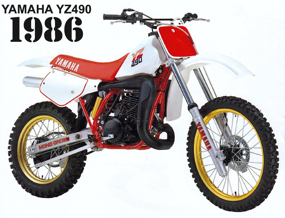 1986 YAMAHA YZ490