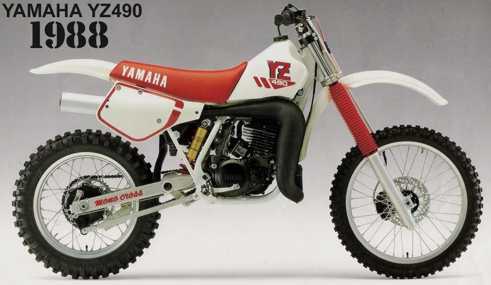 1988 YAMAHA YZ490