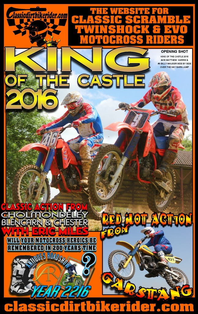 classicdirtbikerider.com king of the castle 2016 classic scramble twinshock Evo motocross photos garstang chester blencarn cholmondeley