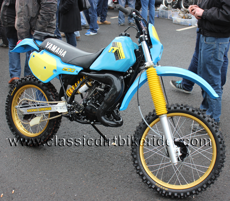 2016 classic dirtbikeshow Telford sponsored by Hagon shocks show report & pictures photos www.classicdirtbikerider.com YAMAHA IT200 FOR SALE