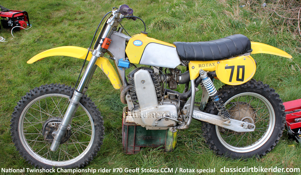 CCM ARMSTRONG ROTAX FOUR-STROKE MOTOCROSS SPECIAL GEOFF STOKES FROM FRANCE  classicdirtbikerider.com