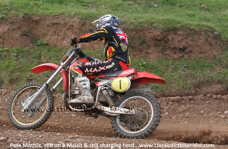 National Twinshock Championship Round 1 Polesworth March 2016 Pete Mathia Maico 490  classicdirtbikerider.com Photo By Mr J 73