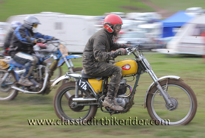 Red Marley Hill Climb 2016 Photos Pictures Report Results www.classicdirtbikerider.com 1968 BSA 350cc..