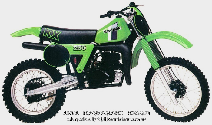 1981 KAWASAKI KX250 classicdirtbikerider.com